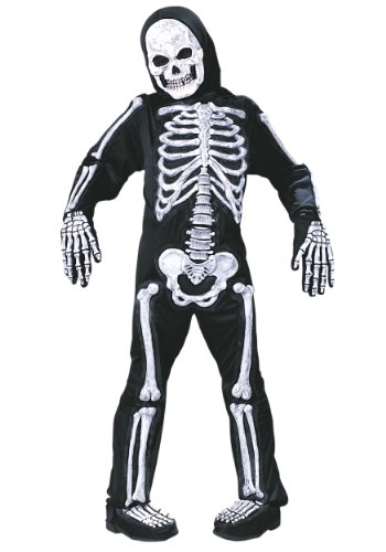 Boys Skeleton Halloween Costumes (Skelebones Child Medium)