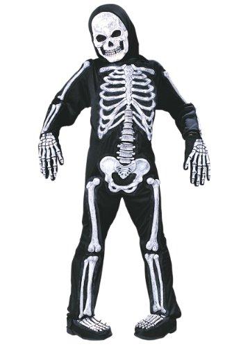 Fun World Spooky Skeleton Child Halloween Costume (Large (12-14))