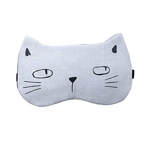 AutumnFall Cute Cartoon Cat Eye Mask Soft Padded Sleep Trave