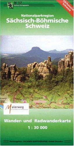 Nationalparkregion Sächsisch-Böhmische Schweiz: Wander- und Radwanderkarte. 1:30 000