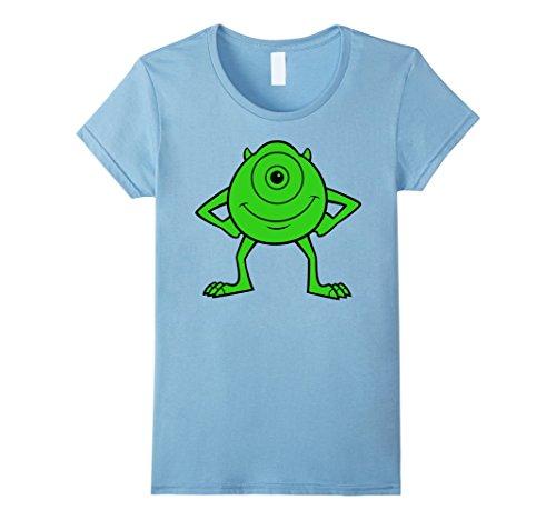 Womens Disney Pixar Monsters Inc. Mike Wazowski Green Pose T-Shirt Large Baby Blue