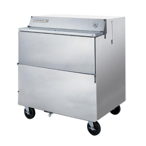 Milk Cooler 8 Crate - Beverage Air SMF34Y-1-S Single Access Eight Crate Capacity Milk Cooler in Stainless Steel