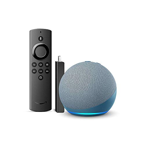 Echo Dot (4th Gen, Blue) bundle with Fire TV Stick Lite