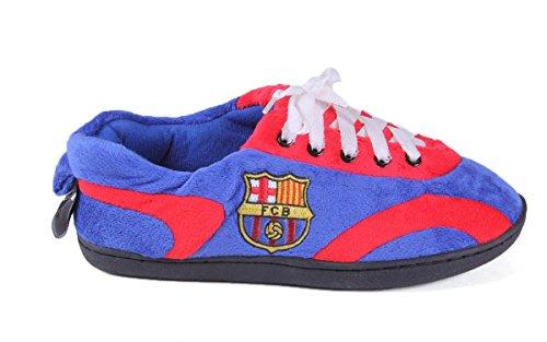 Pieds Confortables Pieds Heureux Hommes Et Femmes Officiellement Licenciés Club De Football Tout Autour Des Pantoufles Fc Barcelona