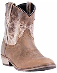 Dingo Womens Cognac Fashion Boots Leather Cowboy Boots Round Toe