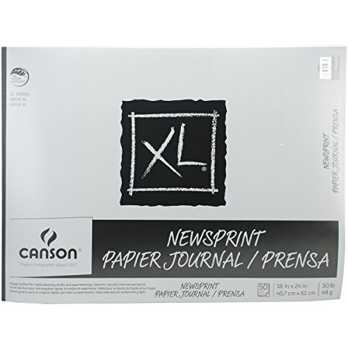 Canson 18-Inch by 24-Inch Biggie Junior Newsprint Paper Pad, (Biggie Pads)