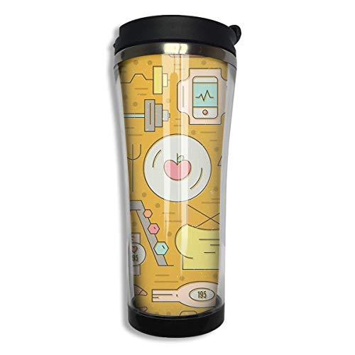 (KJHDSI Bodybuilding Tumbler-Vacuum Insulated Double Coffee Mug Stainless Steel Flask Wwater Bottle Travel Mugs Stainless Steel Coffee Cup Unisex)