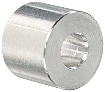 0.38 ID 3//4 OD 3//8 Screw Size Plain Finish Made in US Round Spacer 3//4 Length Aluminum Pack of 5