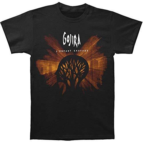 Gojira Men's L'Enfant Sauvage Album Cover T-Shirt 3XL Black