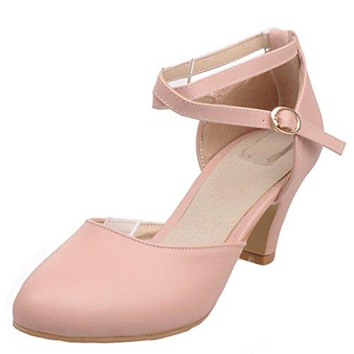 Aiyoumei Cinturino Alla Caviglia Da Donna Con Cinturino Alla Caviglia Con Cinturino E Fibbia Scarpe Comode Rosa