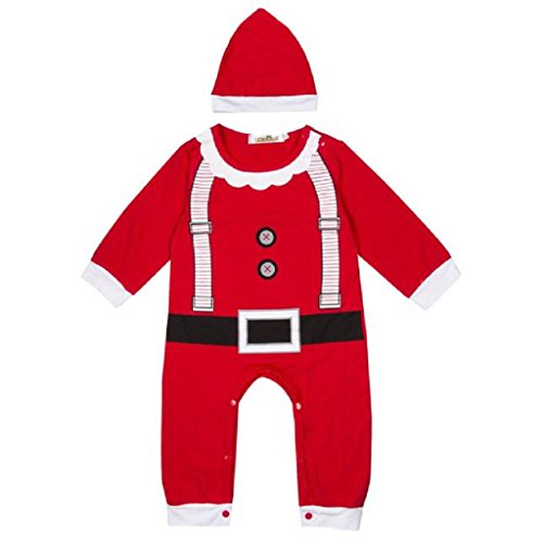 Cocktail Bunny Hat Costumes (Hot Sale!Baby Kids Boy Girl Clothes Outfits Romper Hat Cap Set Christmas Gift for 0-24M →Laimeng (70, Red))