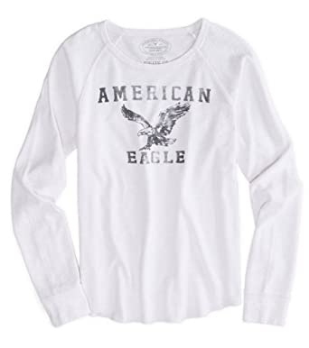 8b3771727 American Eagle Outfitters Mens Thermal Long Sleeve T-Shirt (XL, White):  Amazon.co.uk: Clothing
