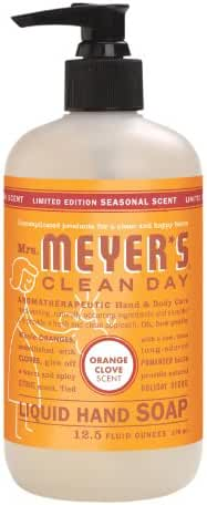 Mrs. Meyers Clean Day Liquid Hand Soap - Orange Clove, 12.50-Ounce (Pack of 3)
