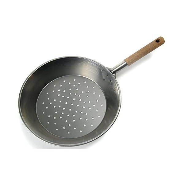 Home 0 Padella per Castagne con Manico, 30 cm, Ferro, Acciaio/Legno 2 spesavip
