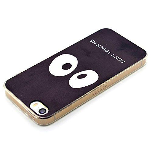 HYAIT® For IPHONE 5S/SE [XXG 17V3]Scratch-Proof Ultra Thin Rubber Gel TPU Soft Silicone Bumper Case Cover -BKI02