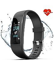 Akuti Fitness Armband, Wasserdicht IP67 Pulsuhr Fitness Uhr Tracker mit 0,96 Zoll Farbbildschirm/Schrittzähler/Schlafmonitor/Vibrationsalarm Anruf SMS Whatsapp Melden für Kinder Damen Herren