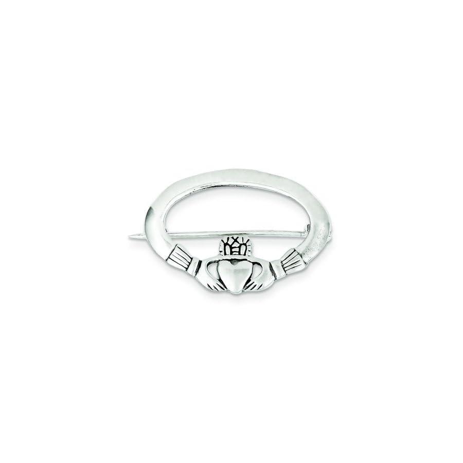 Sterling Silver Claddagh Pin Irish Love Jewelry