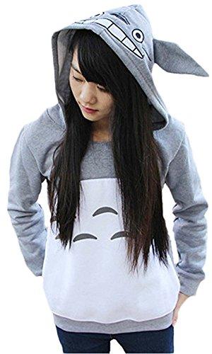 Women-Teens-Cartoon-Anime-Totoro-Fleece-Hoodie-Sweatshirt-Pocket-Casual-Pullover