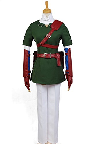 Ya-cos The Legend of Zelda Link Cosplay Costume Suit New Version Dark Green
