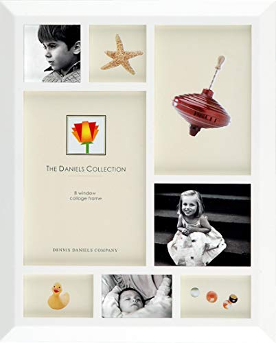 (Display a photo story in our white finish windowpane frame by Dennis Daniels® -)