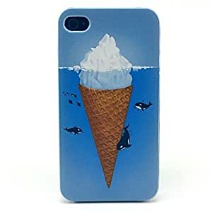 LZX Icecream Dolphin Sea Pattern Hard Case for iPhone 4/4S