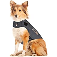ThunderShirt Classic Dog Anxiety Jacket   Vet Recommended Calming Solution Vest for Fireworks, Thunder, Travel, & Separation   Heather Gray, Large