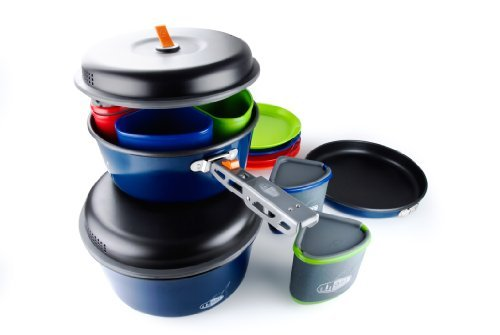 GSI Bugaboo Camper Cookware grey/blue 2016 camping cookware by Gsi
