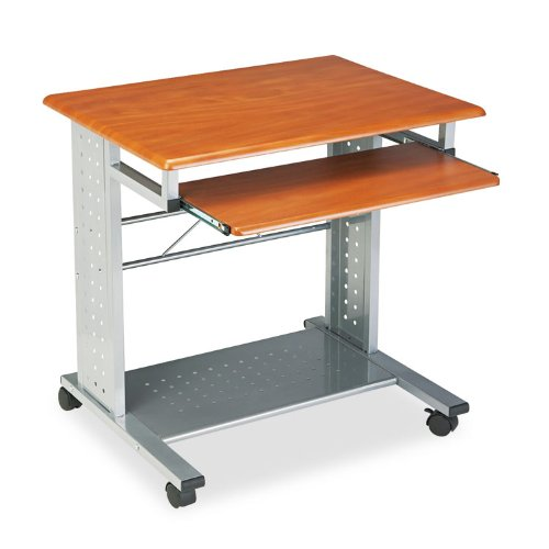 Mayline Empire Mobile PC Workstation - Rectangle - 29.8quot; Height - Steel - Cherry