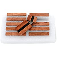 10 16GB Flash Drive - Bulk Pack - USB 2.0 Wooden Grove Design - Rosewood with Ebony Stripe