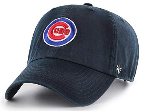('47 Authentic Chicago Cubs Navy Bullseye Cleanup Adjustable Cap)