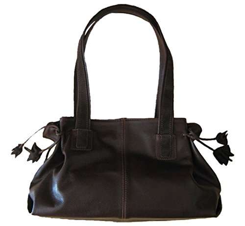 Borsa in pelle marrone scuro