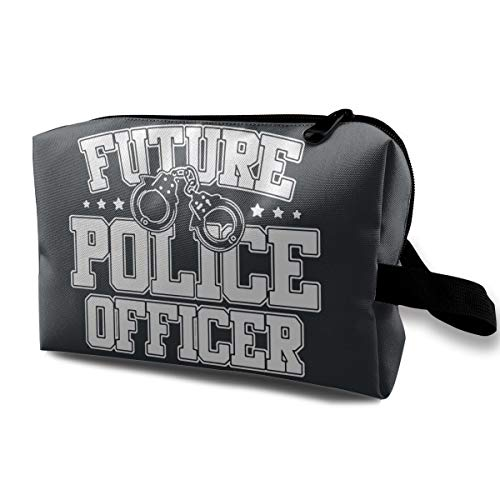 Qbao Future Police Officer Unisex Travel Cosmetic Bag Portable Makeup Case & Organizer Toiletry -