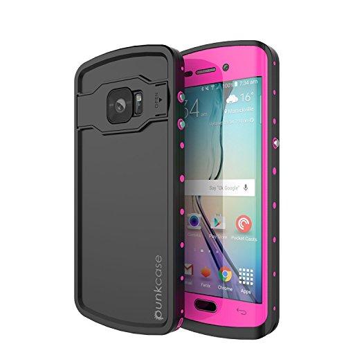 Slim Shockproof Case for Samsung Galaxy S6 Edge (Pink) - 4