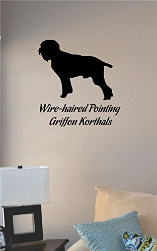 JS Artworks Wire Haired Pointing Griffon Korthals Dog Silhouette Vinyl Wall Art Decal Sticker