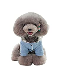 Geetobby Christmas Pet Dress Hoddies Dog Cat Winter Warm Coat Costume Apparel