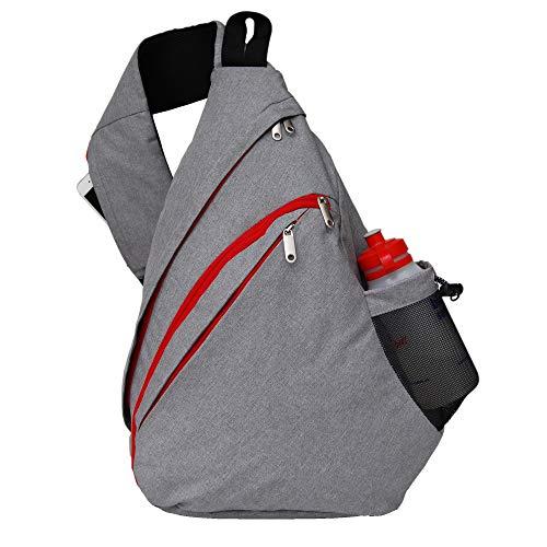 """McGall Oversize Sling Backpack Shoulder Crossbody Bag Travel bag. Fits 15"""" Laptop in Tactical Sling Bag Daypack Design. Includes Convenient Zipper Phone Pocket, Drink Bottle Holder and Key Carabiners"""