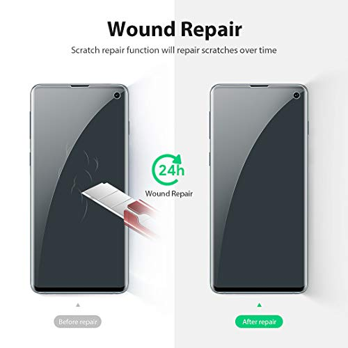 LK [3 Pack] Screen Protector for Samsung Galaxy S10, [Ultrasonic Fingerprint Compatible] [Easy Install Positioning Tool] Flexible Film HD Clear, Bubble Free