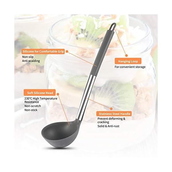 Silicone Cooking Utensil Set, BPA Free 24pcs Silicone Cooking Kitchen Utensils Set with 10pcs hook, Non-stick Heat… 3