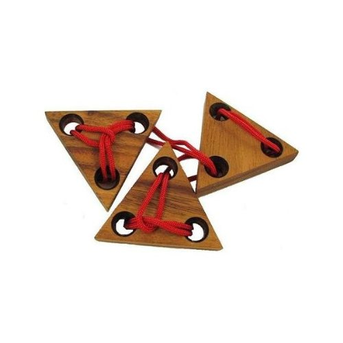 【予約】 Three Triangles String Brain Teaser B005IDO66S Wood Puzzle Teaser Brain B005IDO66S, SPEED AUTO PARTS:854d59b1 --- mrplusfm.net