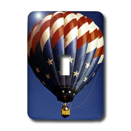 3dRose LLC lsp_3322_1 Hot Air Balloon Freedom Single Toggle Switch