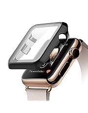 كفر حماية لشاشة ساعة ابل الاصدار 4-5 مقاس 44 - اسود