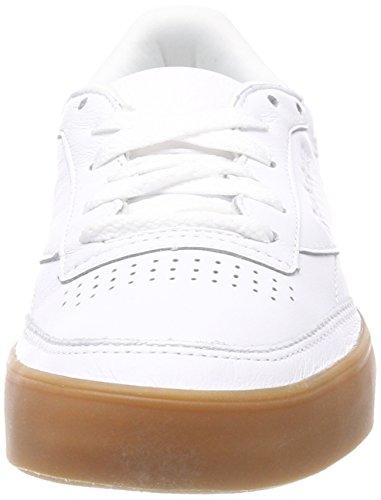 Baskets Reebok white Blanc C 85 Femme Club gum Fvs IgCgfx