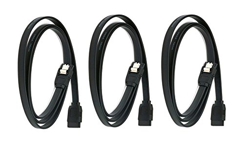 Black CNE567686 12 Pack 18inch SATA 6Gbps Cable w//Locking Latch