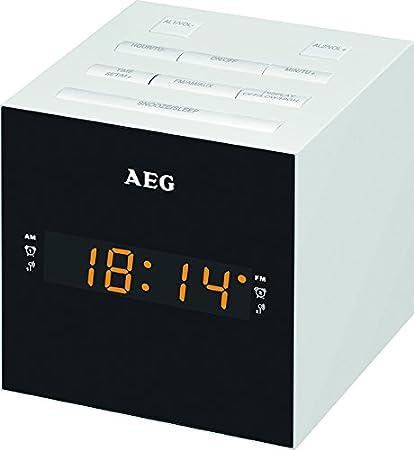 AEG MRC 4150 - Radio Despertador Digital con USB para Carga de móvil (Am/