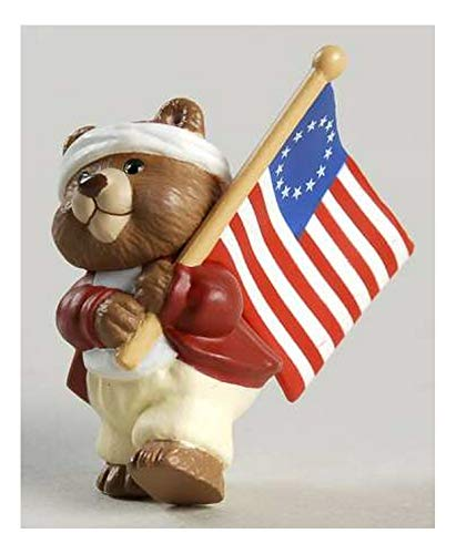 Hallmark Merry Miniatures Bear with a Flag 1994 Fourth of July
