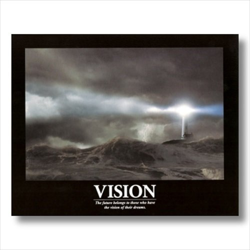 VISION Motivational Ocean Lighthouse Wall Picture 16x20 Art Print