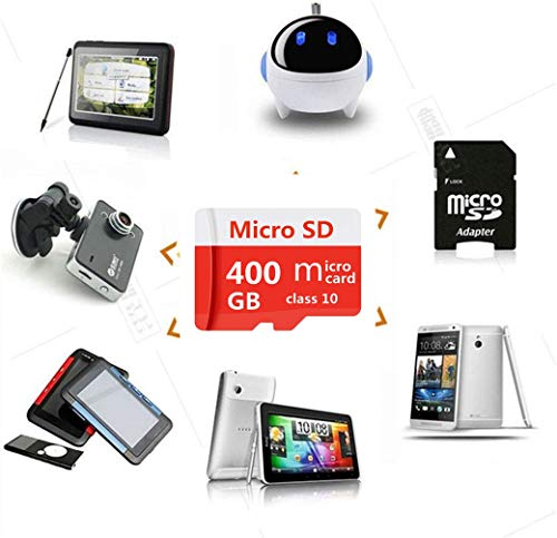 400GB Micro SD SDXC Card Class 10 High Speed Flash Memory Card with Adapter for Phone,Tablet and PCs (400GB)