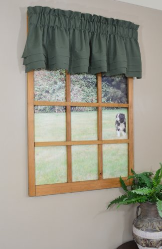 Curtain Chic Supple Microfiber Cumberbund Valance, Deep Moss