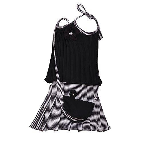Aarika Girl's Self Design Top and Skirt Set