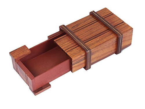 Box Tribute Wooden (storeindya Jewelry Trinket Box Wooden Small Rectangular Sliding Keepsake Box Handcrafted Multipurpose Organizer)